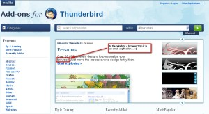 Mozilla, Thunderbird, Website, Addons, Error
