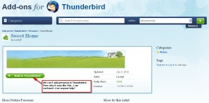Website Errors, Thunderbird